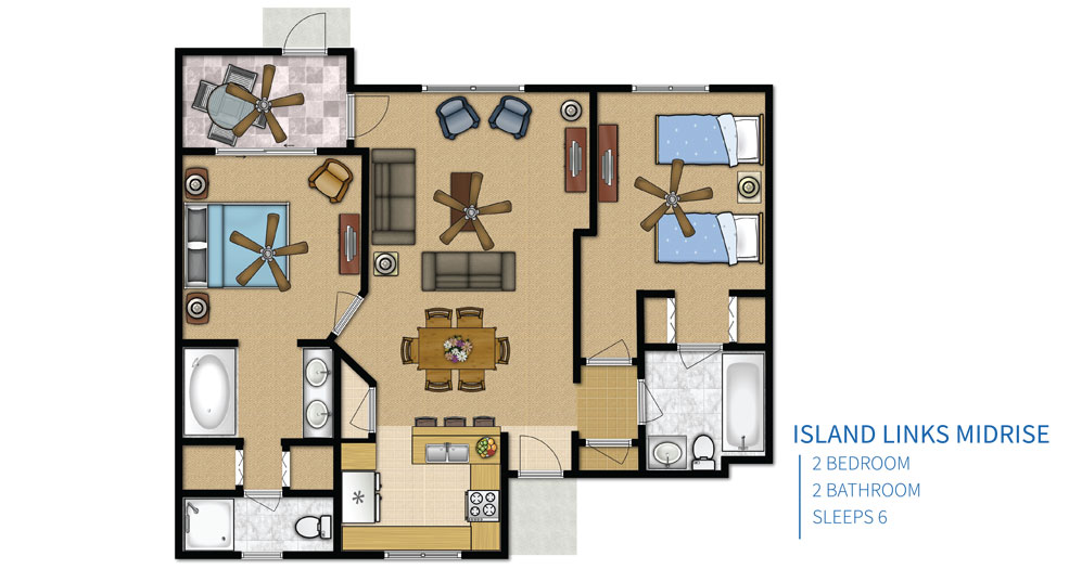 Island Links Resort Floor Plans Created By Palmera Vacation Club